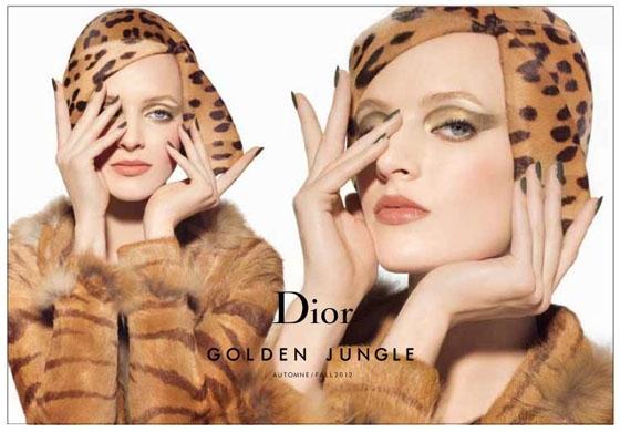 В рекламной компании Dior Golden Jungle снималась русская модель Дарья Строкоус