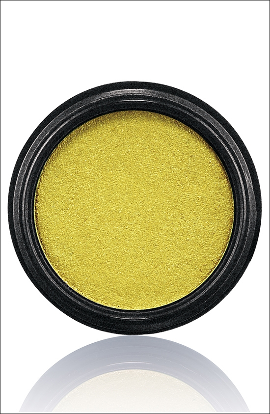 тени для век MAC Electric Cool Eyeshadow Brilliantly Lit - Bright acid yellow green (яркий кислотный желто-зеленый)