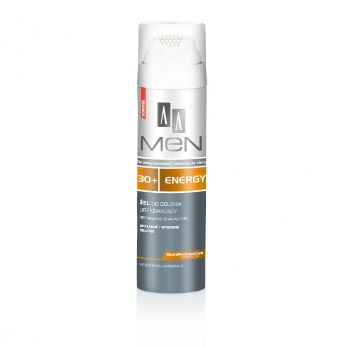 Гель для бритья  AA Men Energy 30+ освежающий