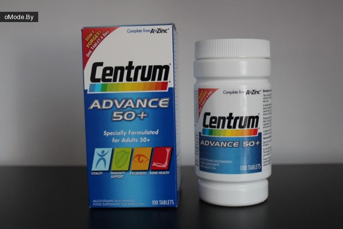 Мультивитамины Centrum Advance 50+ Multivitamin/Multimineral 100 Tablets