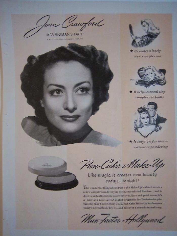 реклама Pan-Cake от Max Factor