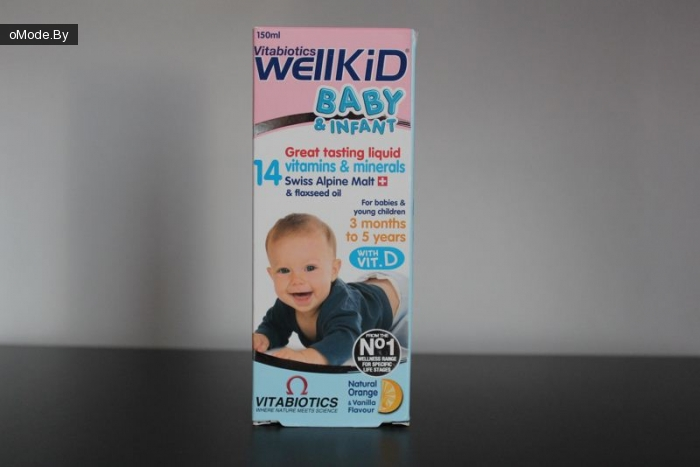 Детские витамины Vitabiotics Wellkid Baby & Infant Vitamin & Mineral Liquid 150ml