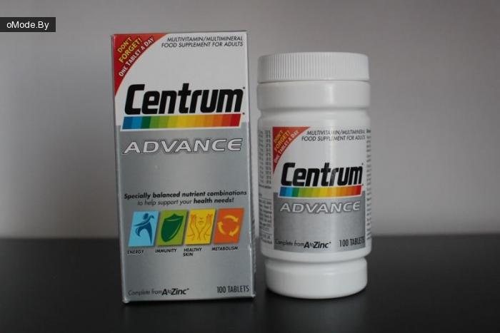 Мультивитамины Centrum Advance Multivitamin/Multimineral 100 Tablets