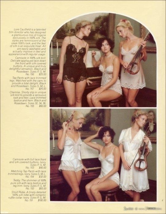 Страницы дебютного каталога Victoria's Secret 1977г.