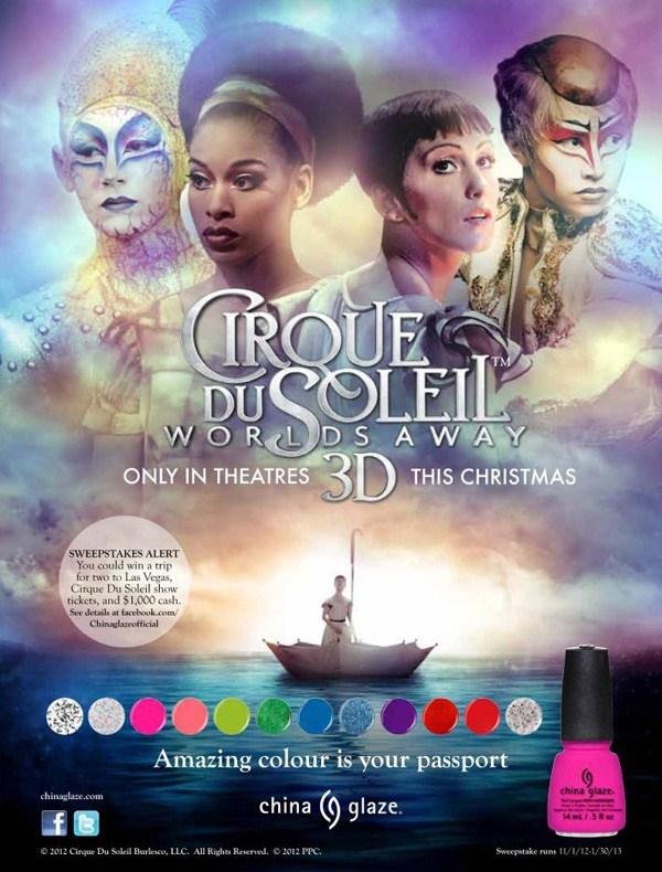 Зимняя коллекция лаков для ногтей China Glaze Cirque du Soleil Winter 2012 Collection