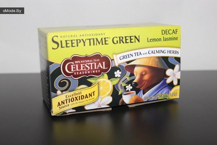 Зеленый чай с успокаивающими травами Celestial Seasonings, Sleepytime Green Lemon Jasmine, Decaf (20 фильтр-пакетиков)