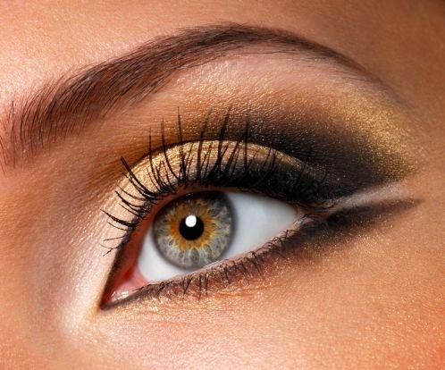 Какие оттенки подходят для макияжа смоки айс коричнево-золотистый цвет