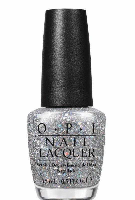 лак для ногтей OPI Oz The Great and Powerful Which is Witch?: Silver glitter with iridescent sparkle (блестящий серебристый с радужными искорками)