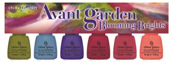Весенняя коллекция лаков для ногтей China Glaze Avant Garden Spring 2013 Collection  Blooming Brights (яркие оттенки)