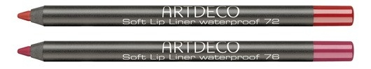 Мягкий водостойкий карандаш для губ Soft Lip Liner Waterproof №72 Orange Tulip, №76 Sweet Red