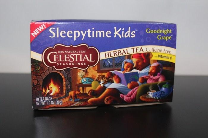 Травяной чай в пакетах Celestial Seasonings, Herbal Tea, Sleepytime Kids, Caffeine Free, Goodnight Grape, 20 Tea Bags, (29 г.)