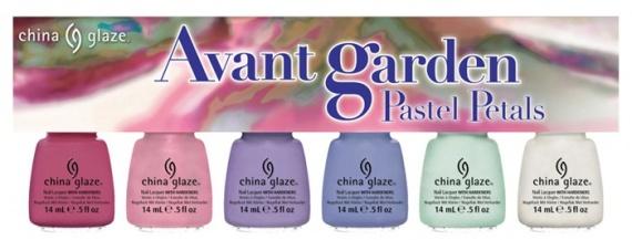 Весенняя коллекция лаков для ногтей China Glaze Avant Garden Spring 2013 Collection  Pastel Petals (пастельные оттенки)