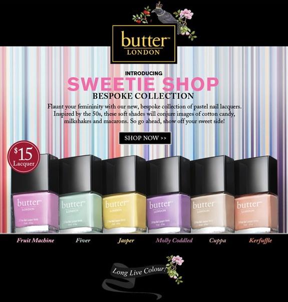 Весенняя коллекция лаков для ногтей Butter London Sweetie Shop Spring 2013 Collection
