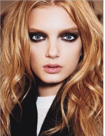 Оттенки для вечернего макияжа для голубых глаз