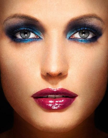 Макияж для голубых глаз с фото