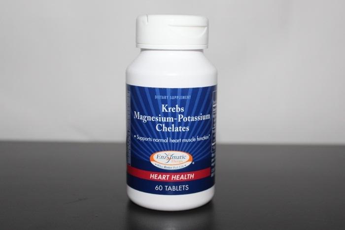 Биодобавка, содержащая магний и калий для здоровья сердца Enzymatic Therapy, Krebs Magnesium-Potassium Chelates (60 таблеток)