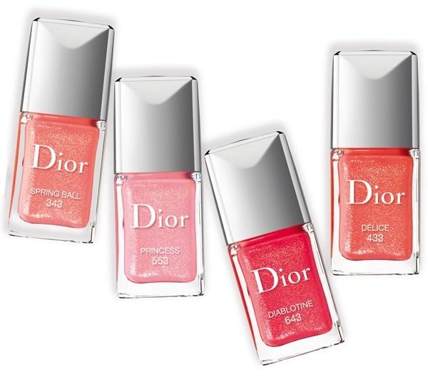 Летняя коллекция лаков для ногтей Dior Vernis Sparkling Shine Summer 2013 Collection