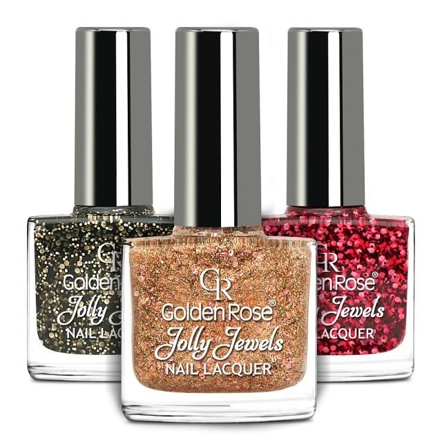 Коллекция желейных лаков для ногтей с блестками Golden Rose Jolly Jewels Collection