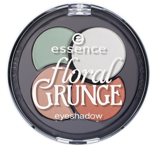Четырехцветные тени для век Essence Floral Grunge Quattro Eyeshadow №01 Eye Like Flowers