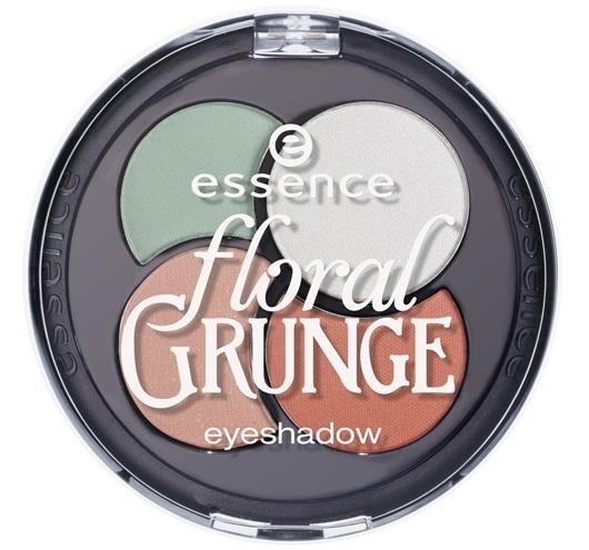 Четырехцветные тени для век Essence Floral Grunge Quattro Eyeshadow №01 Eye Like Flowers