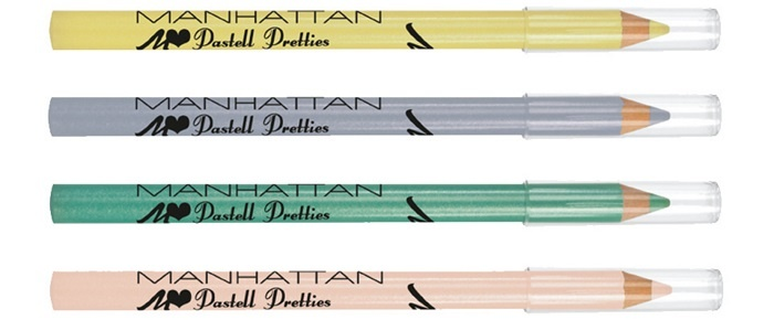 Карандаш для глаз Manhattan Pastell Pretties Eyeliner - Lilly Vanilly, Love Me Lavender, Heart Of Gras, Chic-a-Dahlia