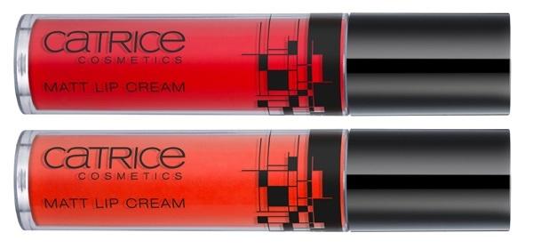 Жидкая матовая губная помада Catrice Matt Lip Crea C01 Red, C02 Light Red