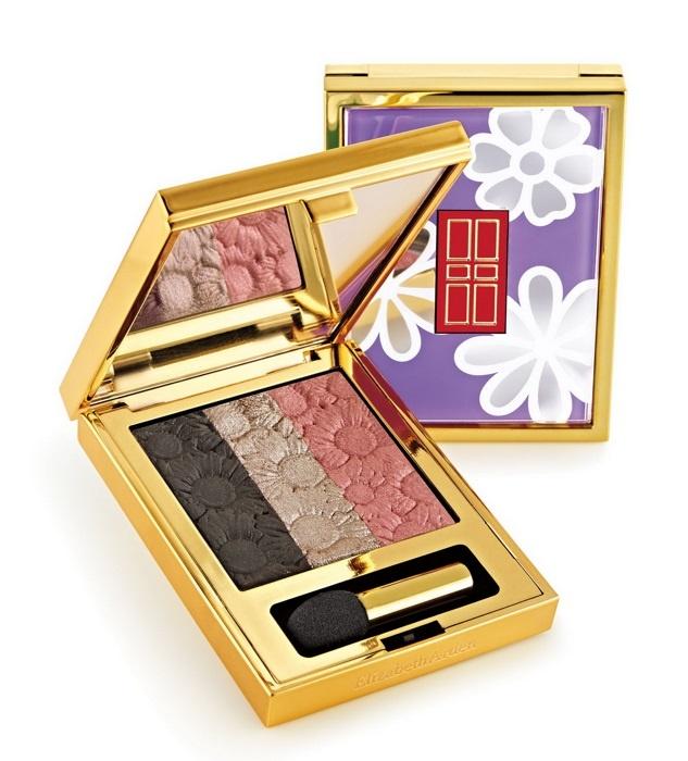 Трехцветные тени для век Elizabeth Arden Eye Shadow Trio Violet Bloom  (лимитированный выпуск)