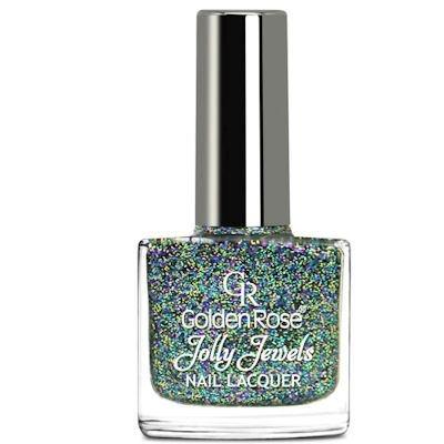 желейный лак для ногтей с блестками Golden Rose Jolly Jewels №106