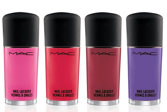 Лак для ногтей MAC Fashion Sets Nail Lacquer Heroine, Ablaze, Silly, Embrace Me
