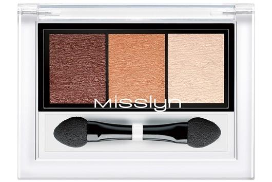 Трехцветные тени для век Misslyn High Shine Trio Eyeshadow