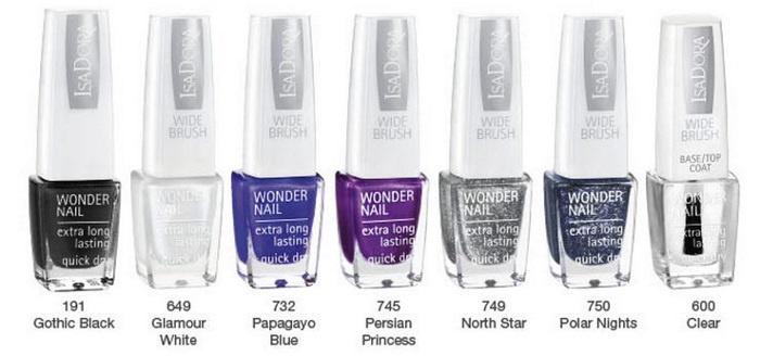 лаки для ногтей Isadora Wonder Nail Nail Glitter Collection