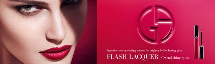 Летняя коллекция лаковых блесков для губ Giorgio Armani Flash Lacquers Summer 2013 Collection