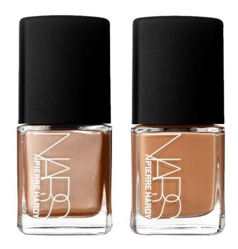 Дуэты лаков для ногтей NARS Pierre Hardy Nail Polish Duo Easy Walking - Rose Gold /Camel (розовое золото, желтовато-коричневый)