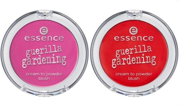 Кремовые румяна Essence Guerilla Gardening Cream to powder blush - №01 mission flower, №02 floral glam