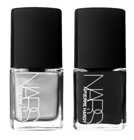 Дуэты лаков для ногтей NARS Pierre Hardy Nail Polish Duo Venemous – Gunmetal /Black (серебристо-серый, черный)