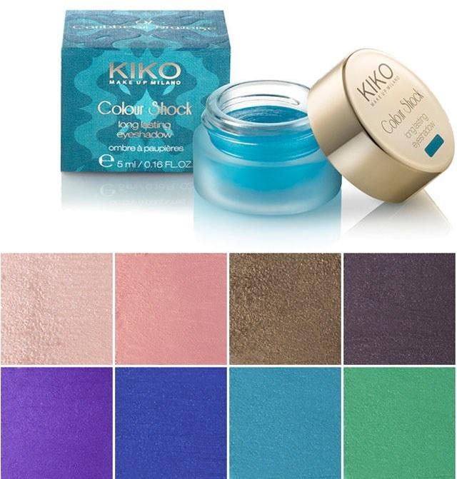 Стойкие кремовые тени для век KIKO Colour Shock Long Lasting Eyeshadow