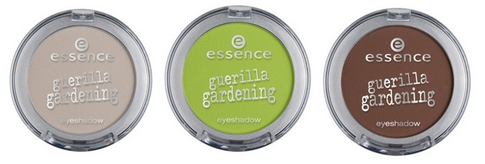Одиночные тени для век Essence Guerilla Gardening Eyeshadows - №01 garden up!, №02 my piece of land, №03 plant the planet