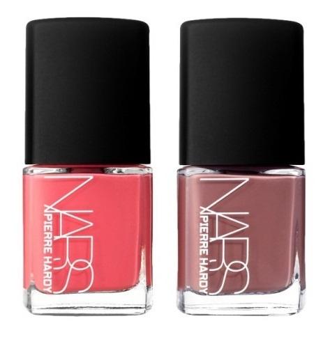 Дуэты лаков для ногтей NARS Pierre Hardy Nail Polish Duo Vertebra – Coral/Dusty Rose (коралловый, пыльно-розовый)