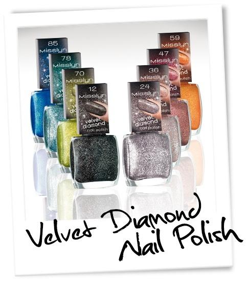 коллекция лаков для ногтей Misslyn Velvet Diamonds Nail Polish Collection