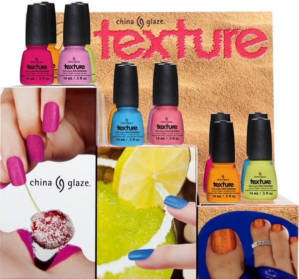 Летняя коллекция лаков для ногтей China Glaze Texture Summer 2013 Collection