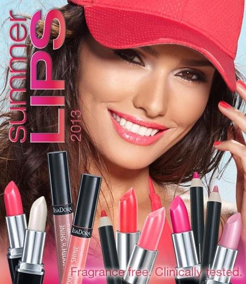 Летняя коллекция макияжа для губ Isadora Lips Summer 2013 Collection