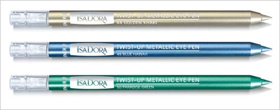 Карандаш для глаз с металлическим эффектом Isadora Twist-Up Metallic Eye Pen