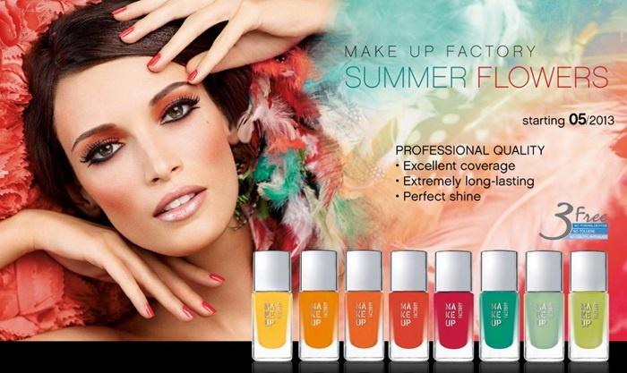Летняя коллекция лаков для ногтей Make Up Factory Summer Flowers Nail Color 2013 Collection
