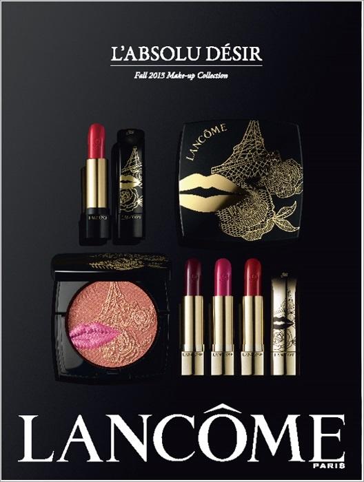 Первые промо-фото осенней коллекции макияжа Lancome L'Absolu Desir Fall 2013 Collection