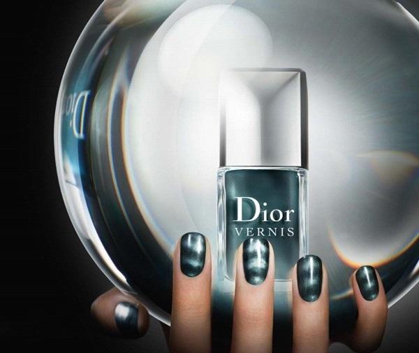 Магнитный лак для ногтей Dior Vernis Mystic Magnetics Green Metallic (новинка)