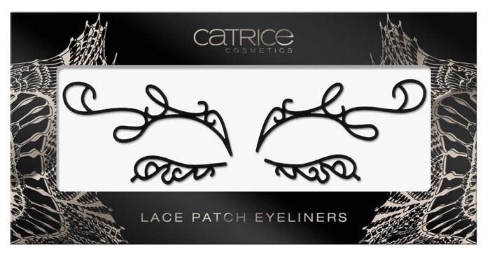 Самоклеющиеся подводки для век в виде кружева Catrice Lace Patch Eyeliners C01 Deep Black