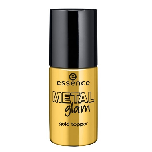Топовое покрытие для ногтей с золотыми частицами Essence Gold Topper