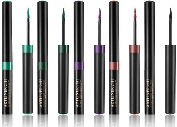 жидкая поводка Lancome Artliner 24H Bold Color Precision Eyeliner оттенки