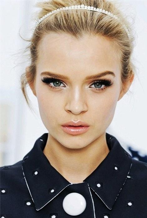 Вечерний макияж глаз для блондинок