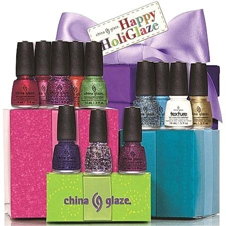Рождественская коллекция лаков для ногтей China Glaze Happy HoliGlaze Holiday 2013 Collection - стенд